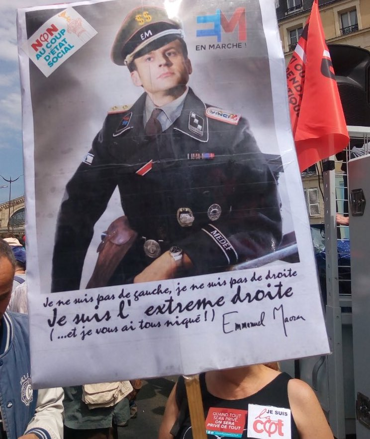 Affiche Emmanuel Macron SS