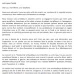 Parti socialiste : lettre pour l'unité contre Emmanuel Maurel