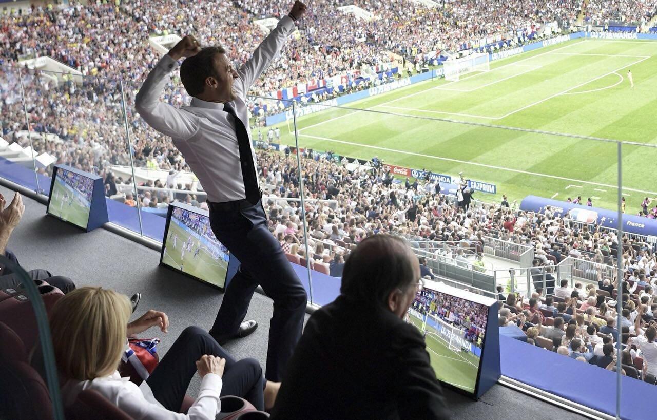 France - Croatie, Emmanuel Macron