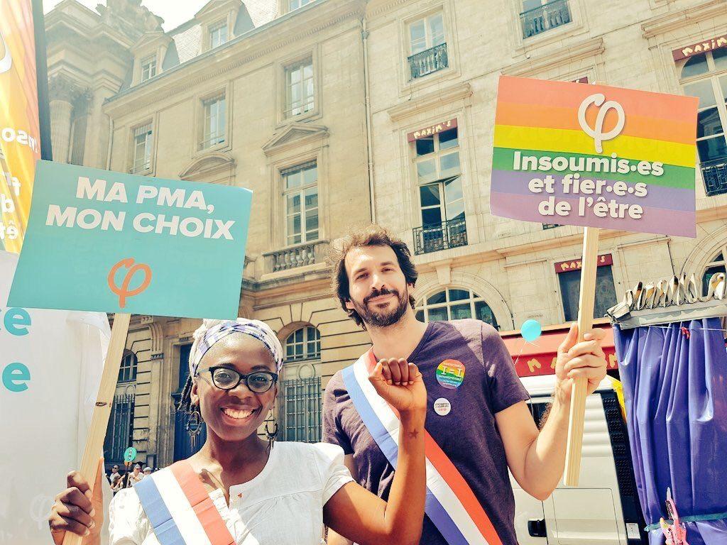 Marche des fiertés 2018 - France insoumise, « Ma PMA, mon choix »