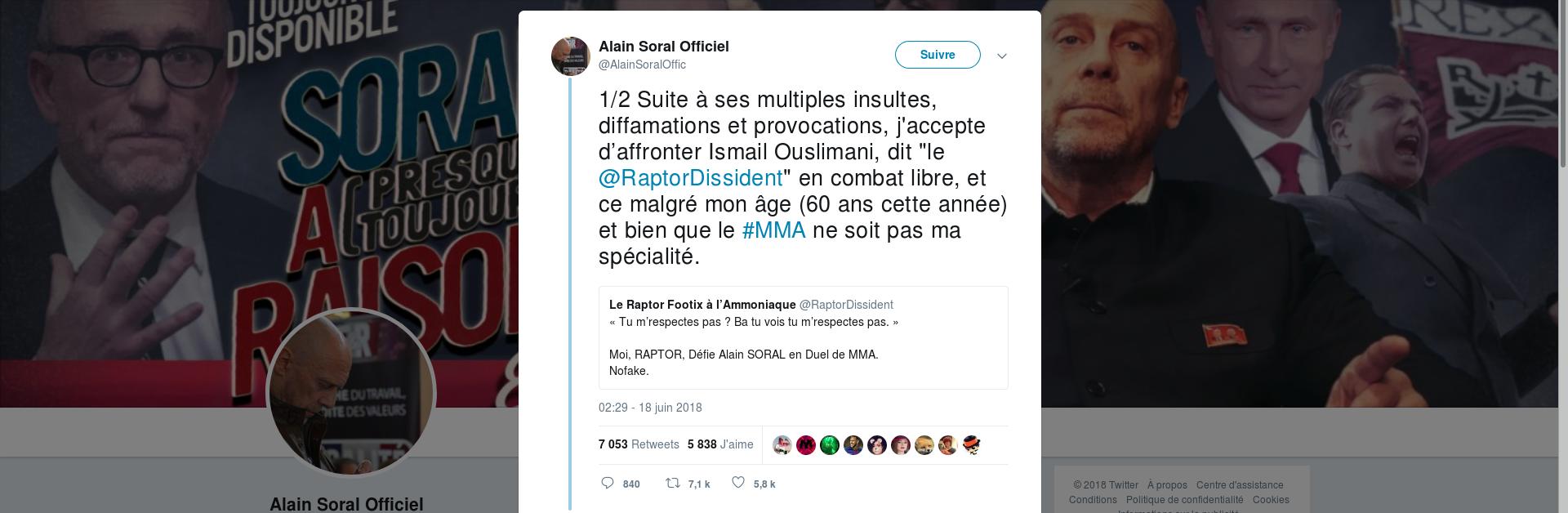 Alain Soral Twitter