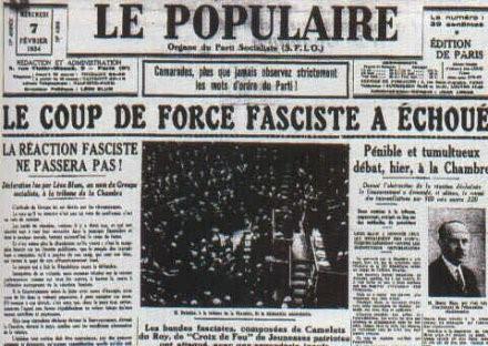 «Les journées ouvrières des 9 et 12 Février 1934»