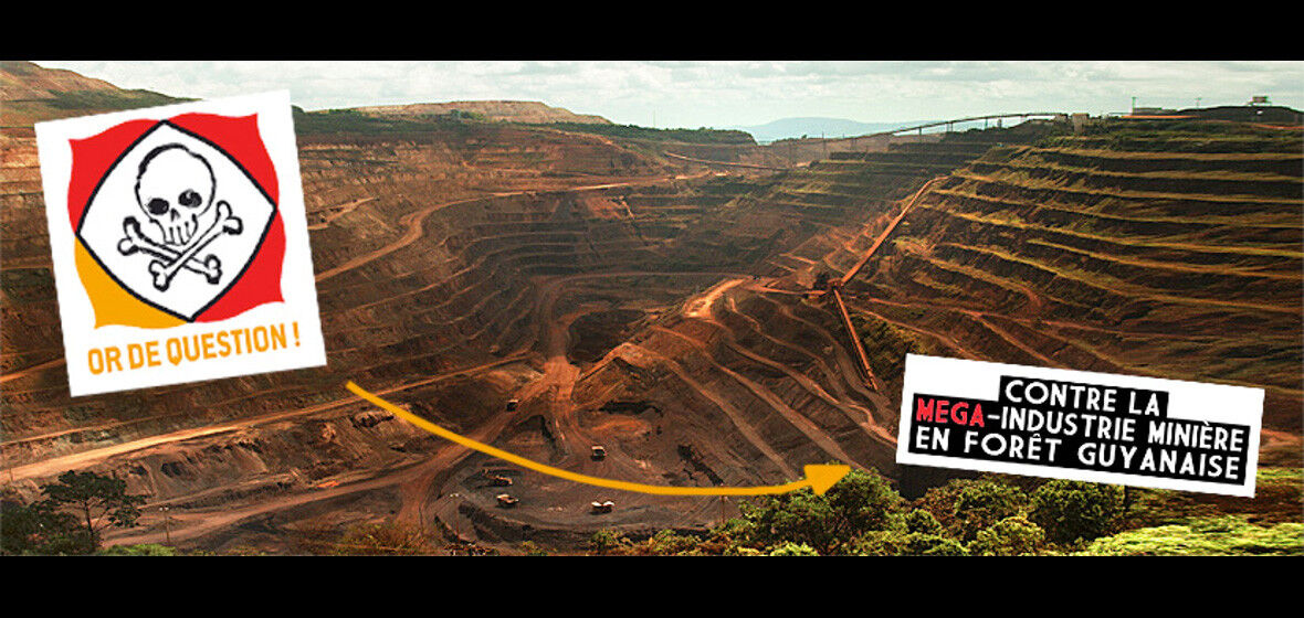 Read more about the article Non au méga-projet de mine d'or « Montagne d'or » en Guyane !