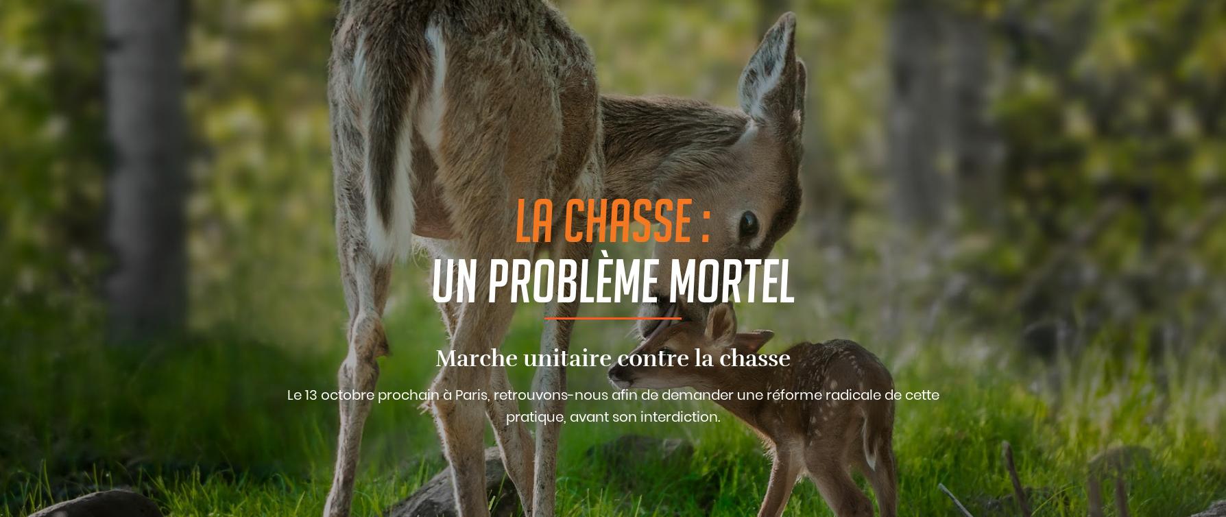 One voice Marche unitaire contre la chasse