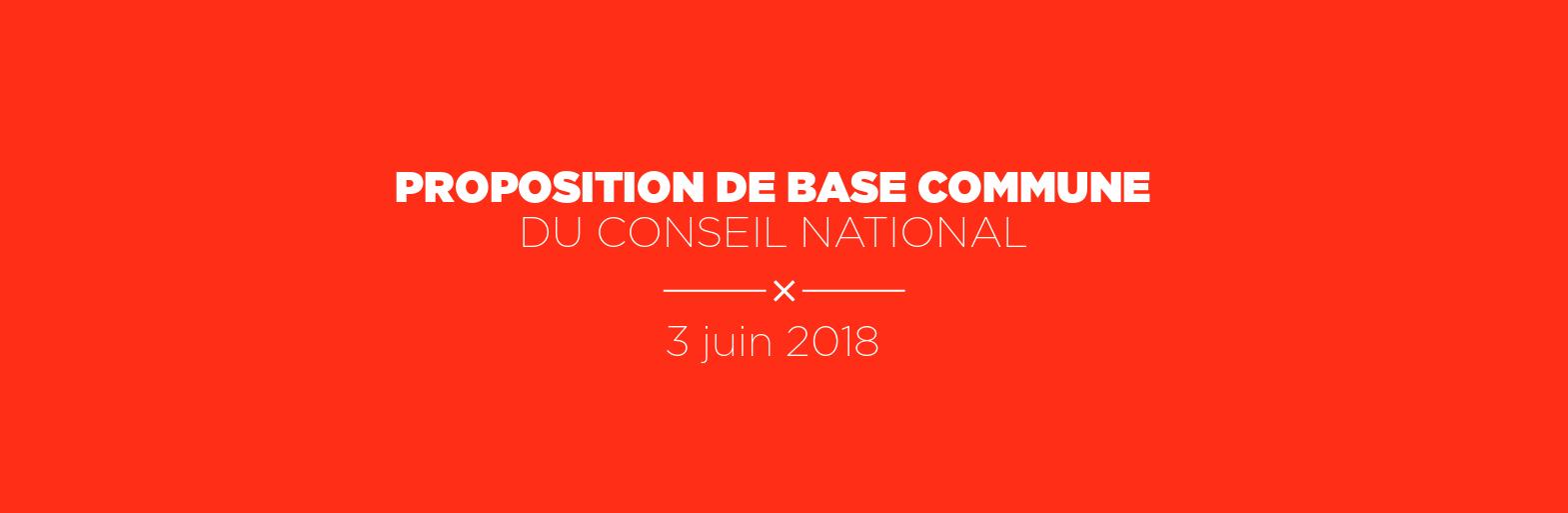 PCF Proposition de base commune du conseil national