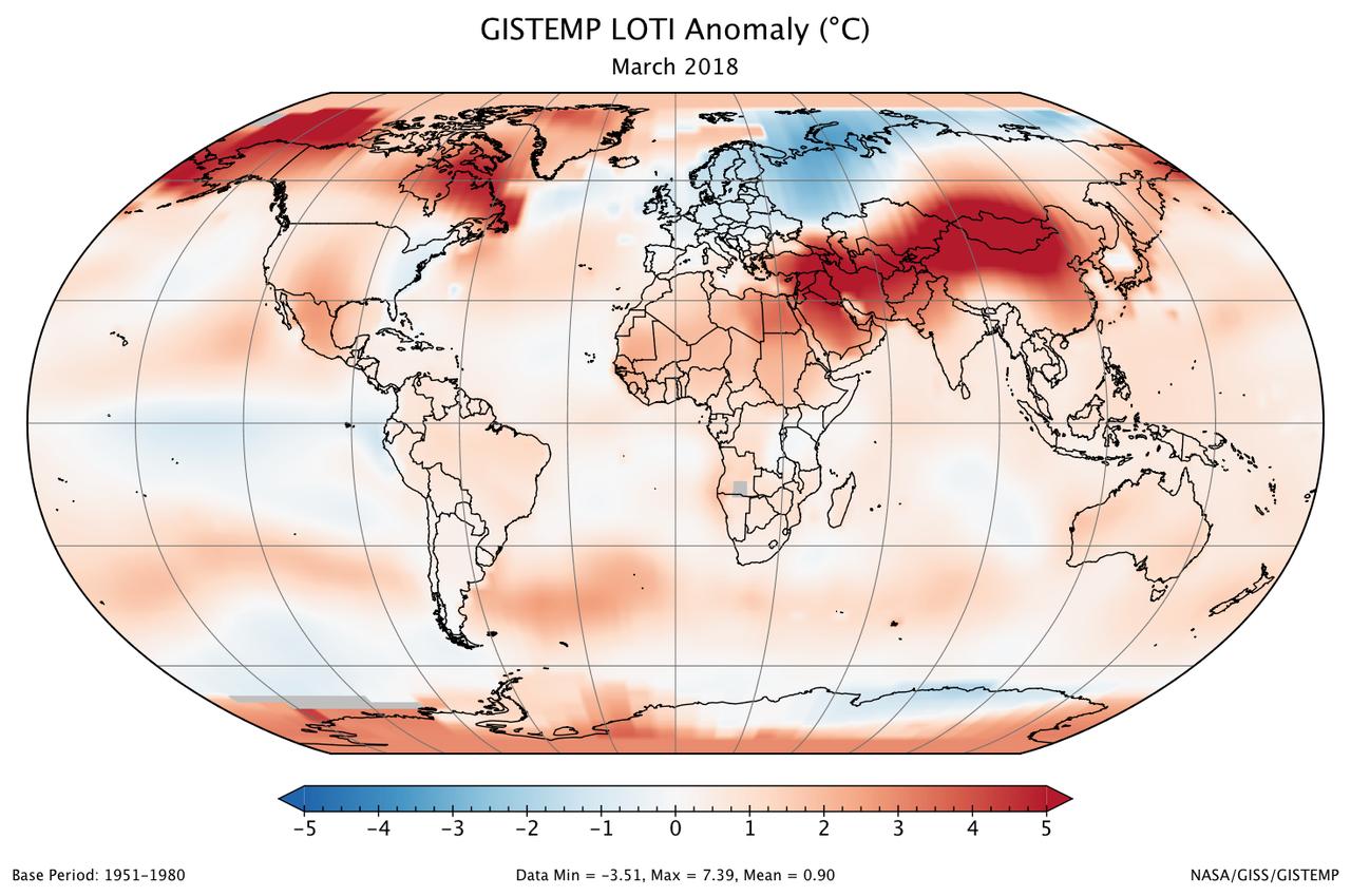 NASA Anomalies de température