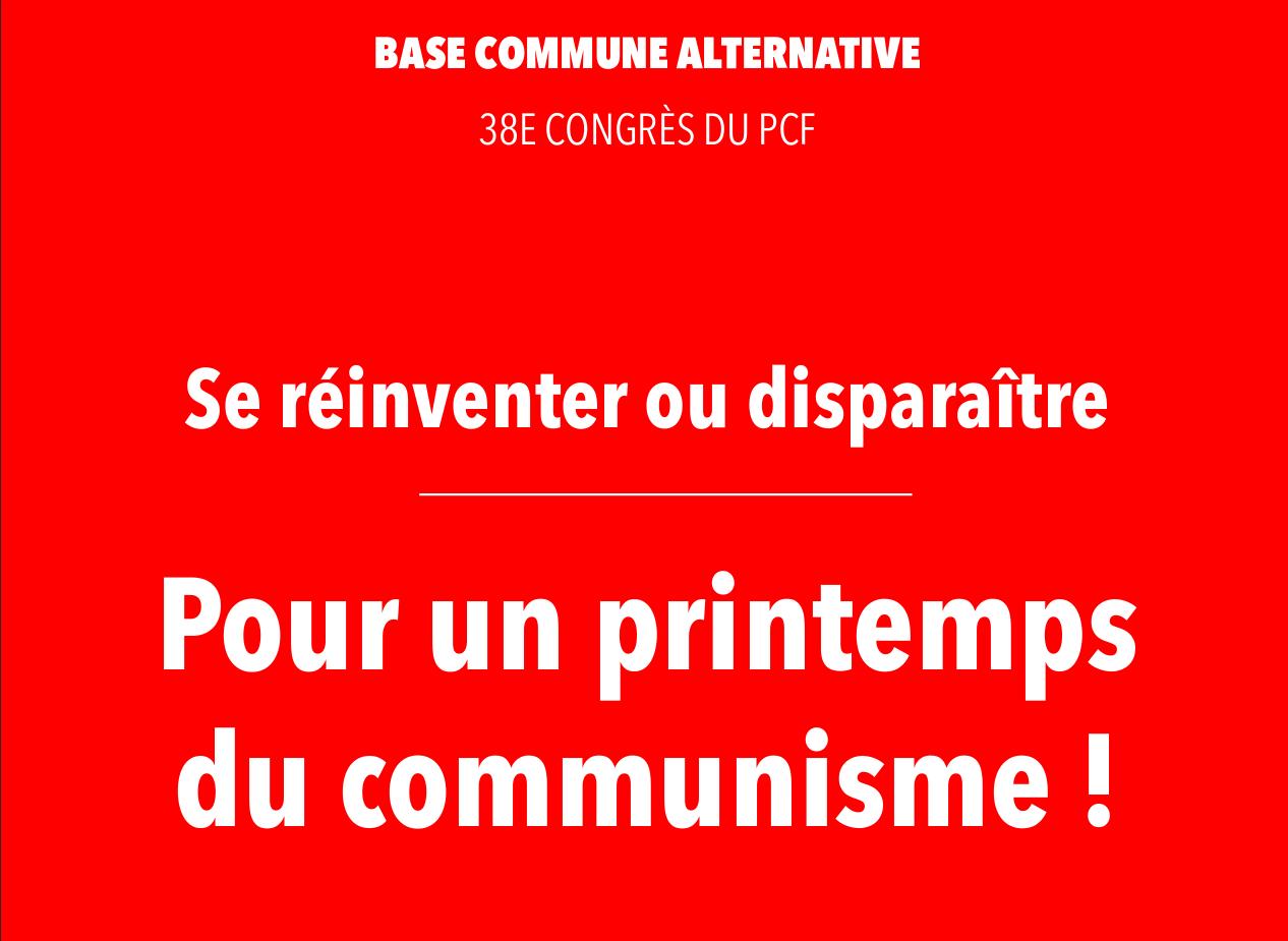 PCF « Pour un printemps du communisme !»