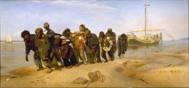 Ilya Répine - Les Bateliers de la Volga