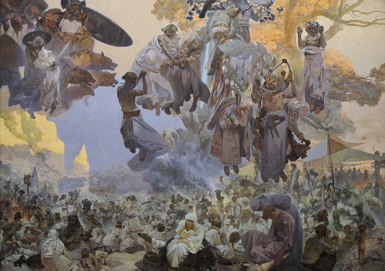 Mucha - Slavnost svatovitova na rujane