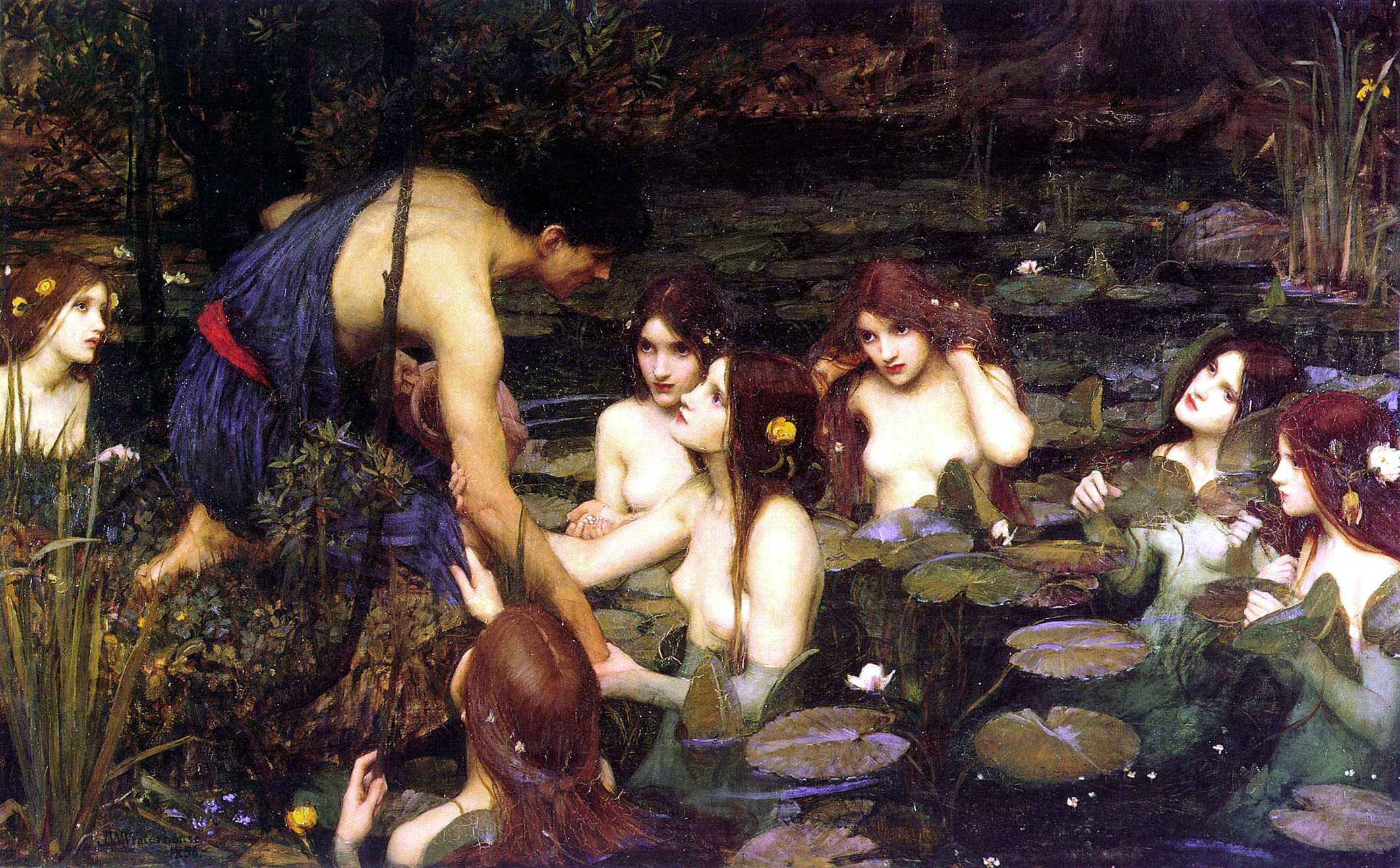John William Waterhouse - Hylas et les Nymphes