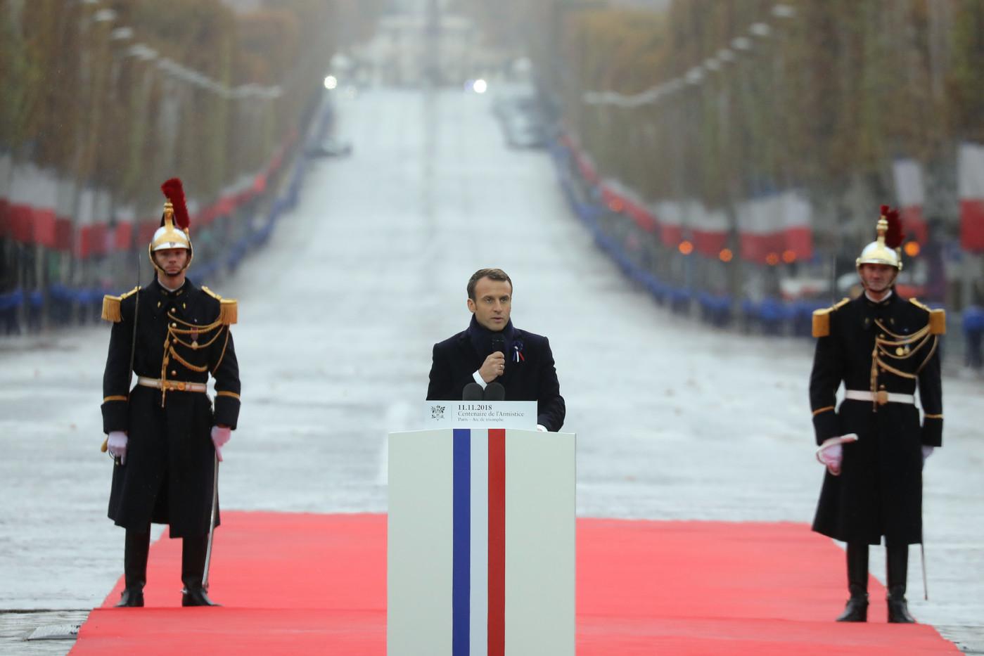 Cérémonie 11 novembre 2018. Emmanuel Macron.