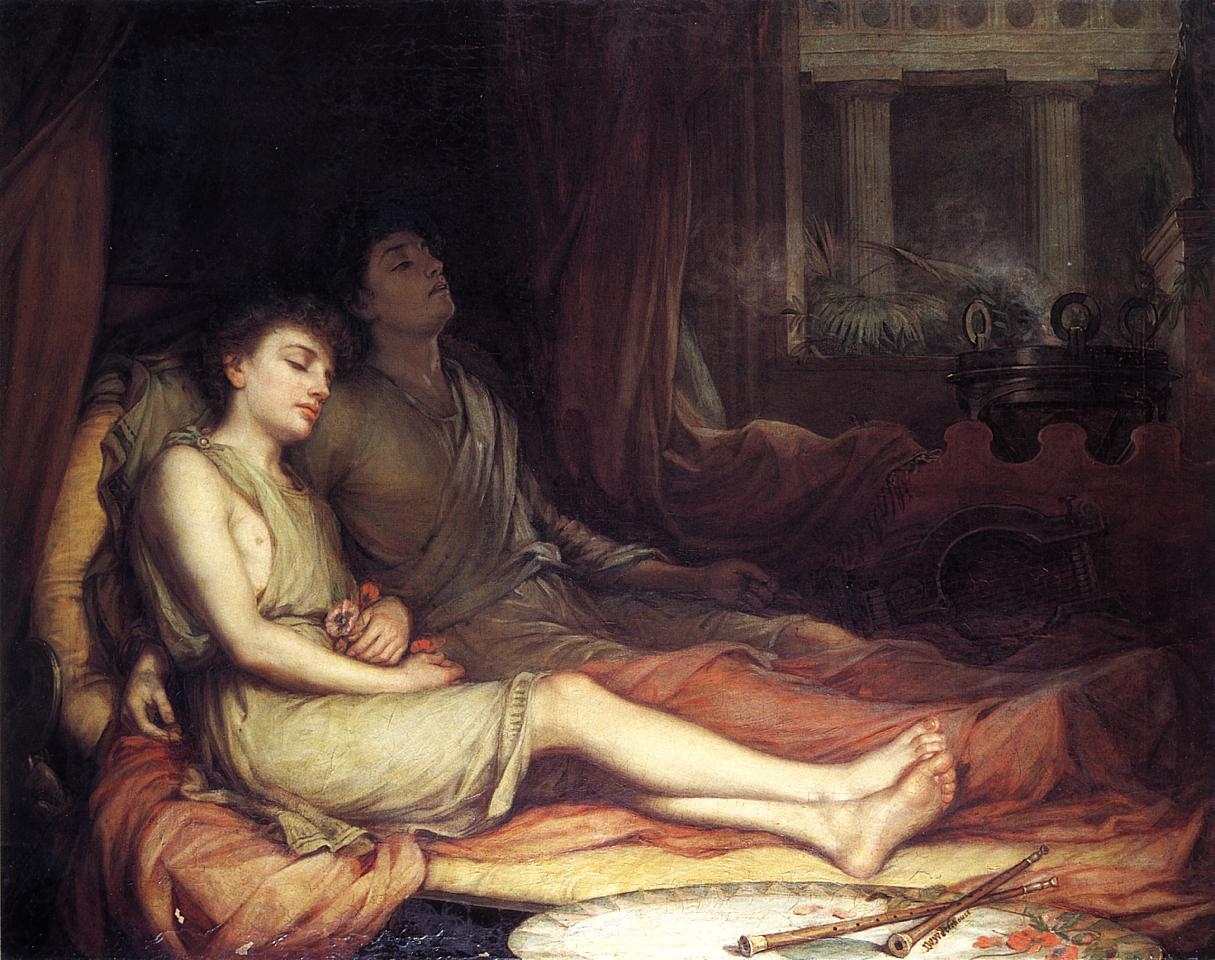 Sleep and his Half-brother Death (John William Waterhouse, 1874)