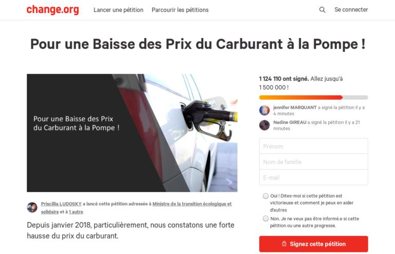 Read more about the article La vanité de la pétition «Pour une Baisse des Prix du Carburant à la Pompe !»