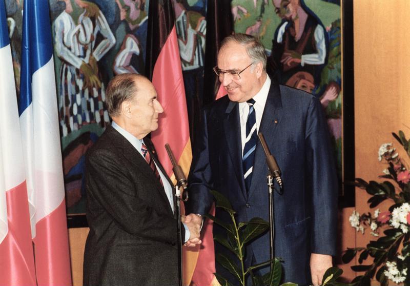 Helmut Kohl François Mitterrand