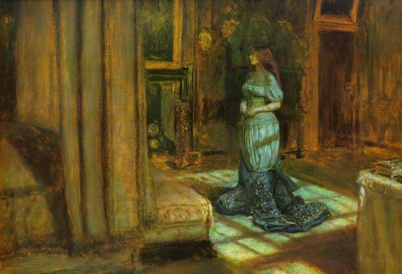 Eve of St Agnes by John Everett Millais