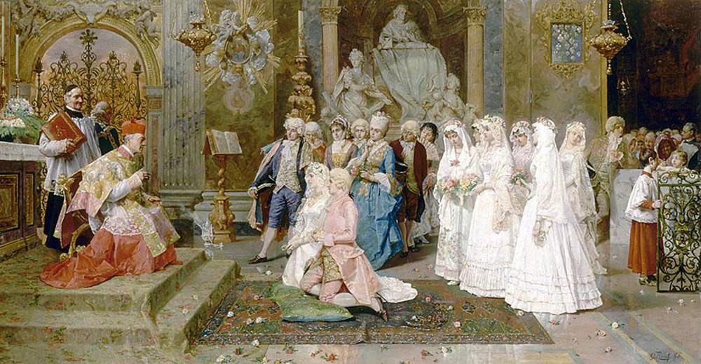 Le mariage, Giulio Rosati, 1885