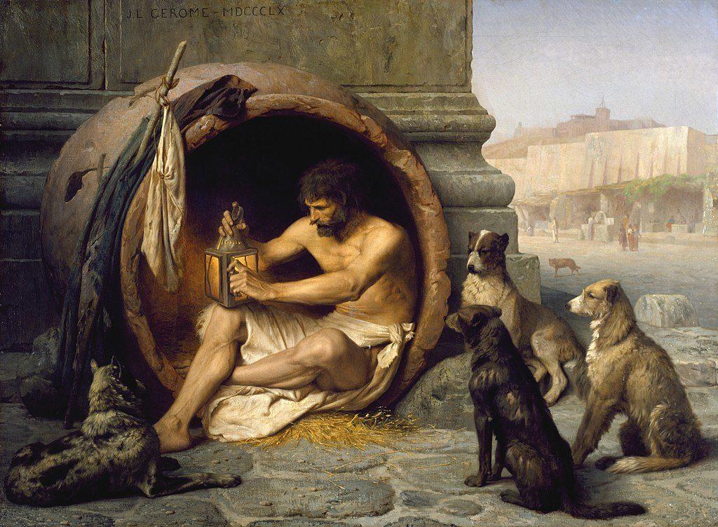 Diogenes, Jean-Léon Gérôme, 1860