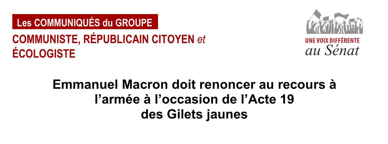 Read more about the article Communiqué du Groupe communiste au Sénat contre la mobilisation des militaires de Sentinelle