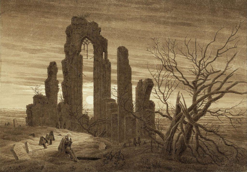 Hiver - Nuit - Vieillesse et mort, Caspar David Friedrich