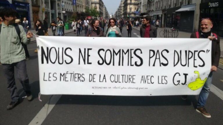 Read more about the article Gilets jaunes : «l'appel des artistes, créateurs et créatrices»