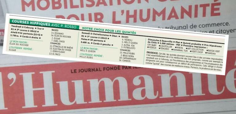 Read more about the article « L'Huma » et les courses hippiques