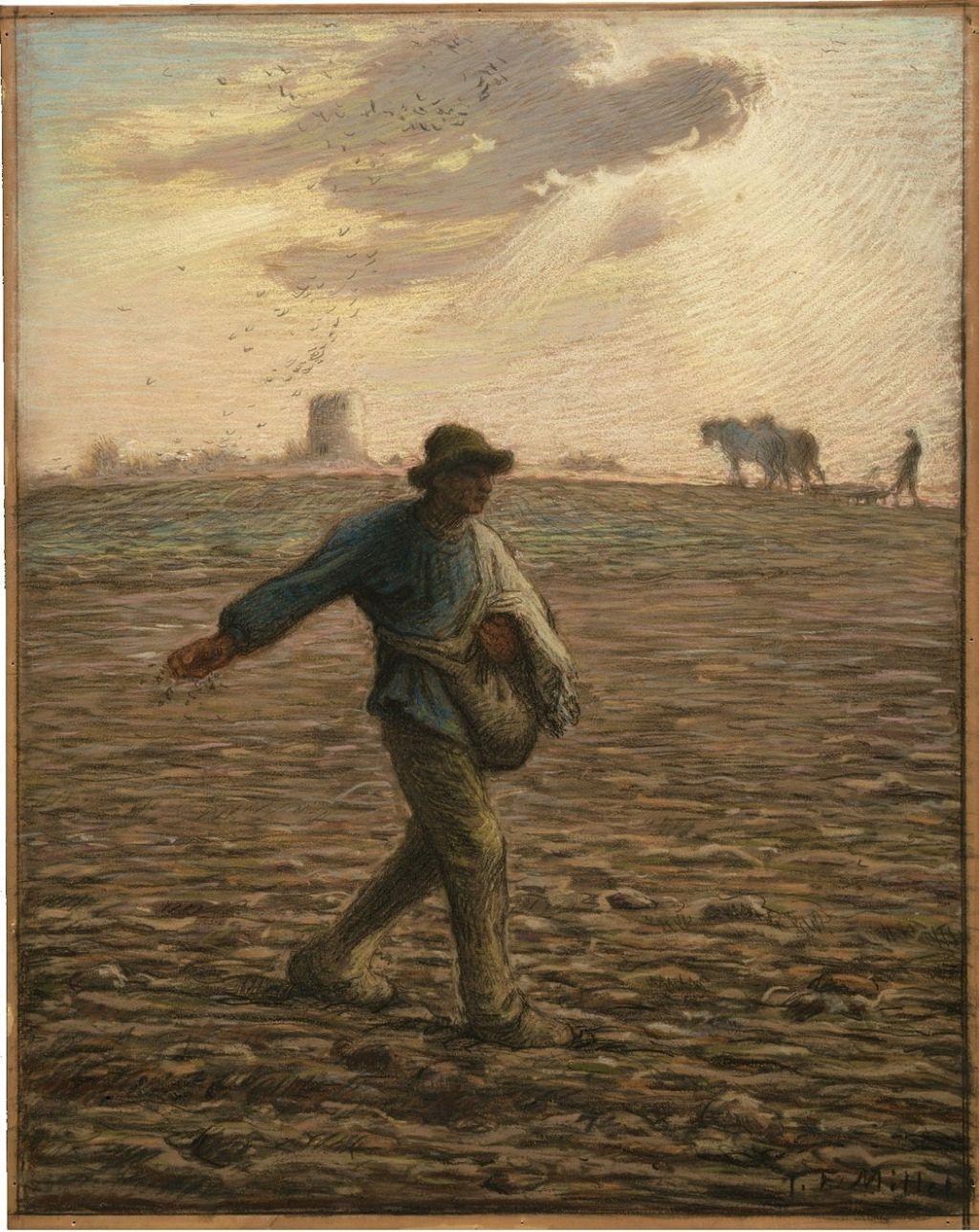 Jean-François Millet, Le semeur, 1865