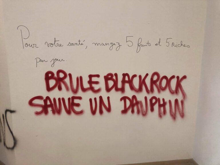 Read more about the article Saccage de BlackRock: l'ultra-gauche se sert de l'écologie pour se sentir exister