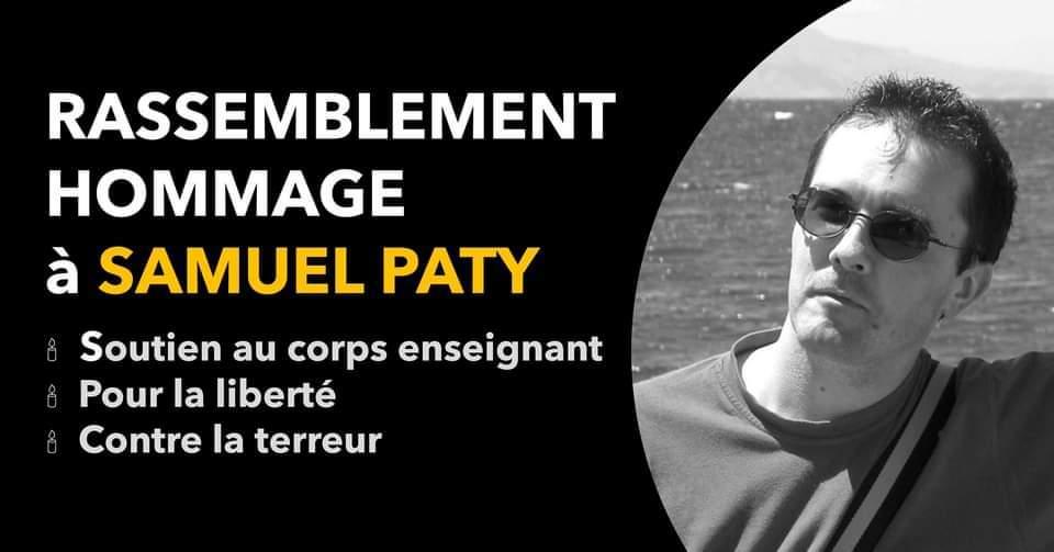Read more about the article Rassemblements en hommage à Samuel Paty partout en France dimanche 18 octobre 2020