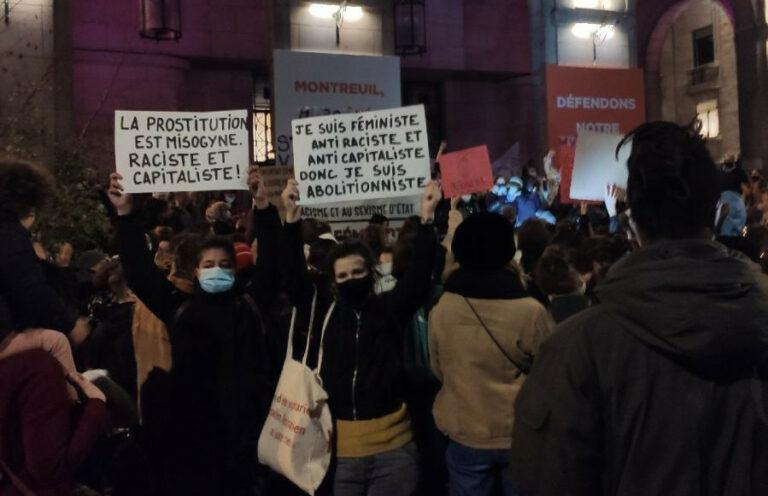 Read more about the article Nouvelle répression de survivantes de la prostitution à une manifestation contre les violences faites aux femmes
