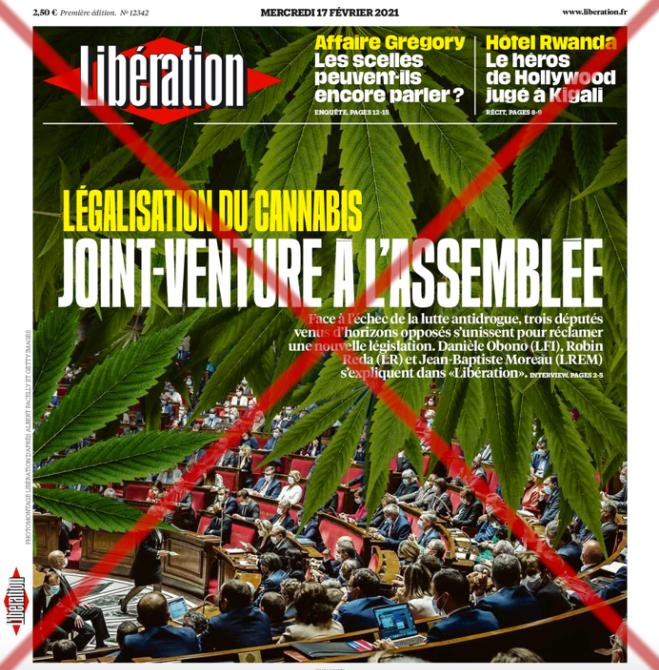 Read more about the article Le journal Libération à l'offensive pour la légalisation du cannabis