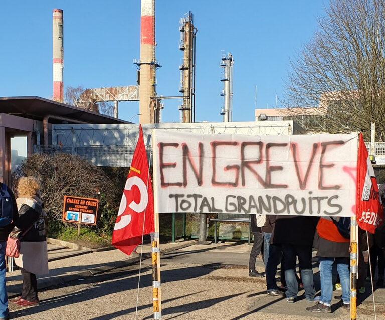 Read more about the article Une triste fin de la grève à la raffinerie de Grandpuits
