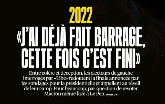 Une semaine de questions sur le barrage à Marine Le Pen au second tour des Présidentielles