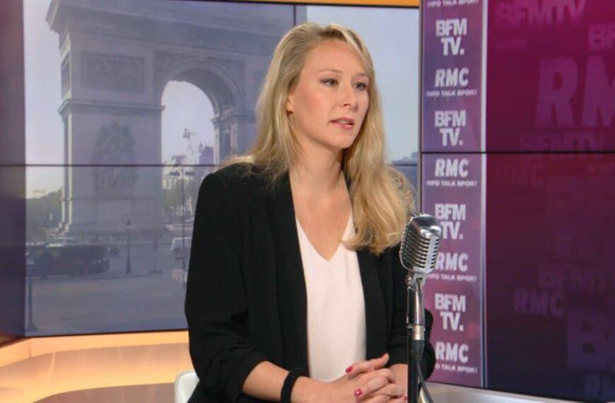 Marion Maréchal, porte-parole de la tribune des militaires