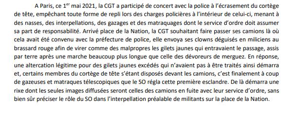 Read more about the article 1er mai 2021 et CGT: l'ultra-gauche donne son point de vue