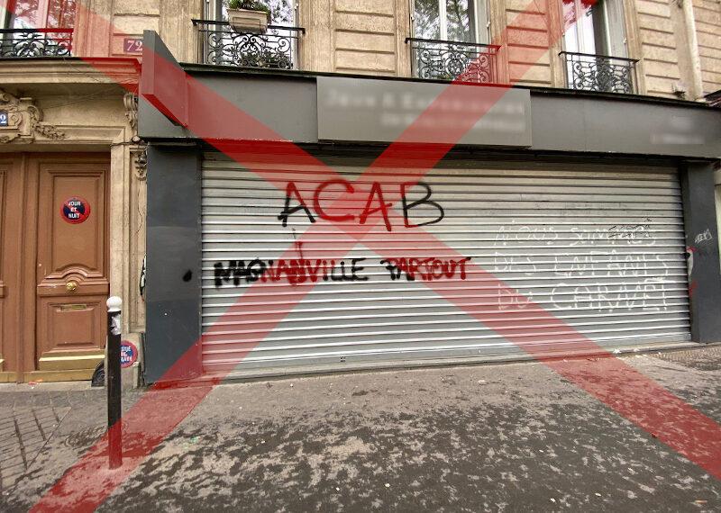 «ACAB Magnanville partout»