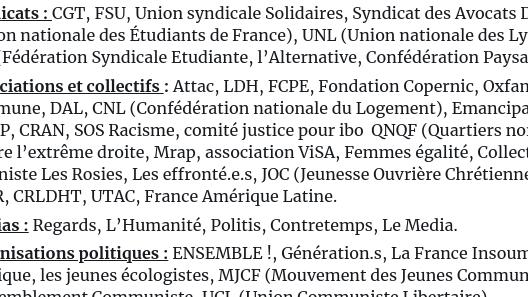 Read more about the article L'appel du 4 mai 2021 pour les libertés, contre les idées d'extrêmes droite et la manifestation du 12 juin