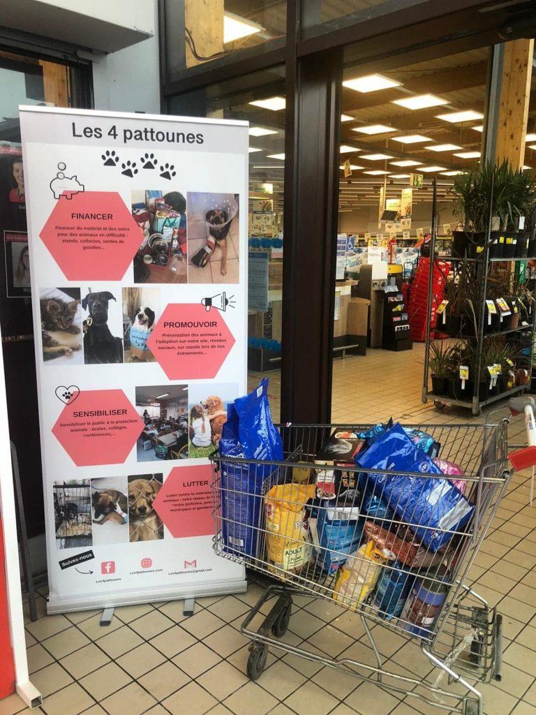 les 4 pattounes - collecte supermarché