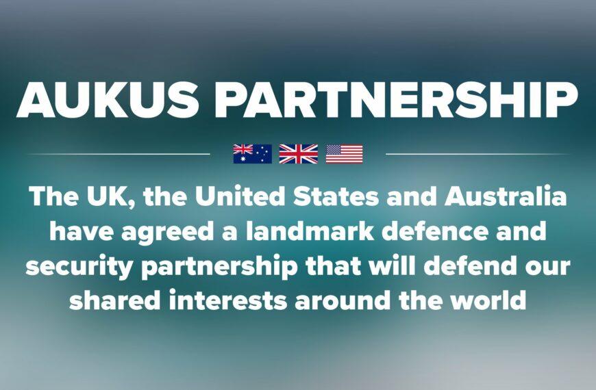 Instauration de l'alliance Australie – Royaume-Uni – Etats-Unis