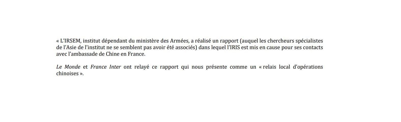 Read more about the article Le rapport français à la Chine : la violente polémique IRSEM/IRIS