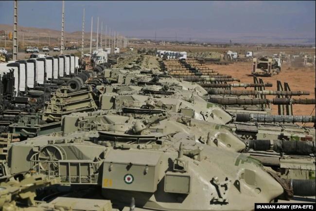 Read more about the article Manœuvres militaires iraniennes à la frontière avec l'Azerbaïdjan