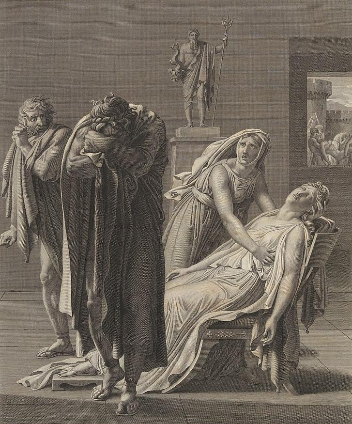 Illustrataion Phèdre (Jean Racine), Acte V