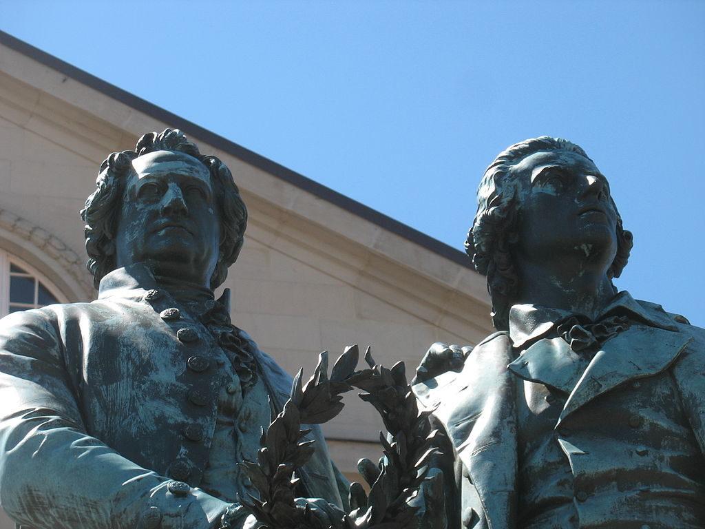 Goethe et Schiller, Weimar
